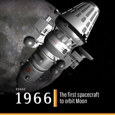 Resultado de imagen para luna 10 first spacecraft to orbit moon