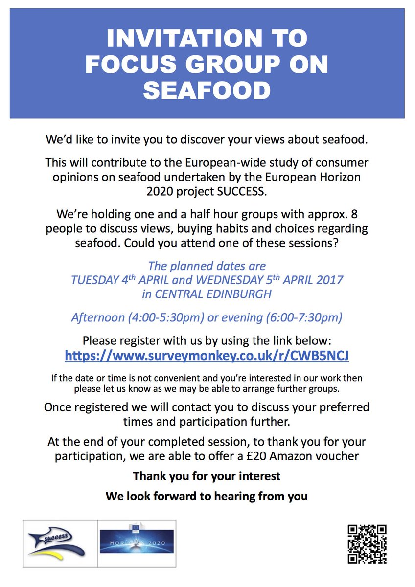 test Twitter Media - Looking for candidates for a focus group on seafood in Edinburgh. To register: https://t.co/Wq21i4EFo9 . £20 Amazon voucher for participants https://t.co/qnTfiSjg4o