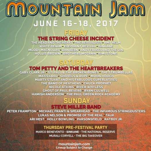 Mountain Jam lineup