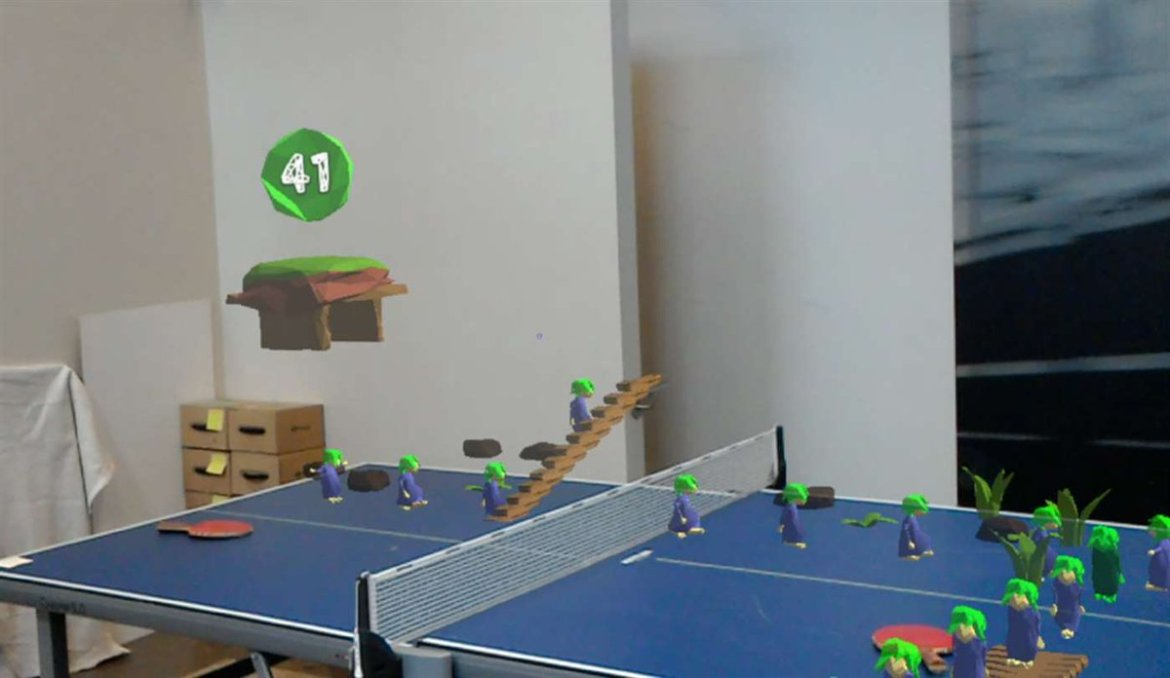 'HoloLems' Makes Your Room into a 'Lemmings' Level with @HoloLens  @globacore
