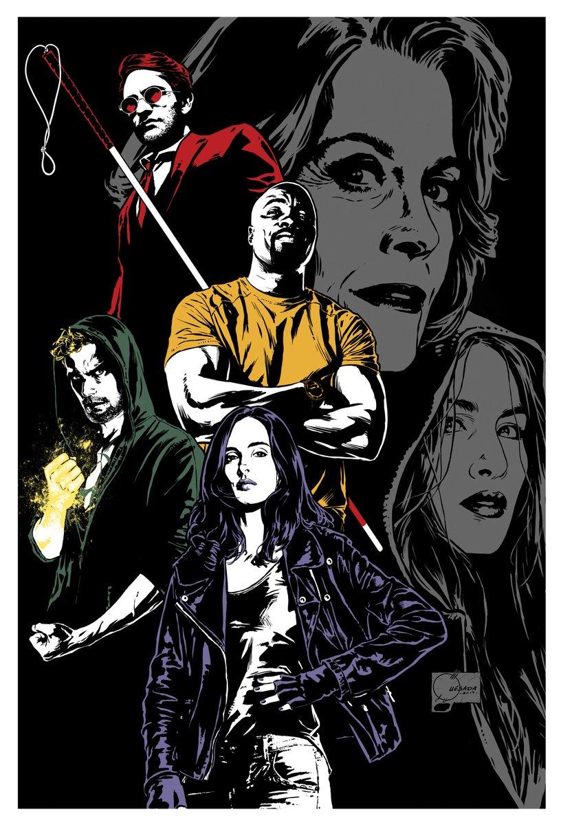 Is dit de eerste poster van Netflix' The Defenders?