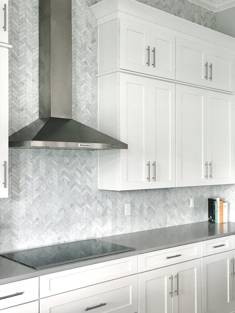 Artistic Tile On Twitter For A Classic Kitchen Backsplash Our 1x 3 Chevron Mosaic Is A
