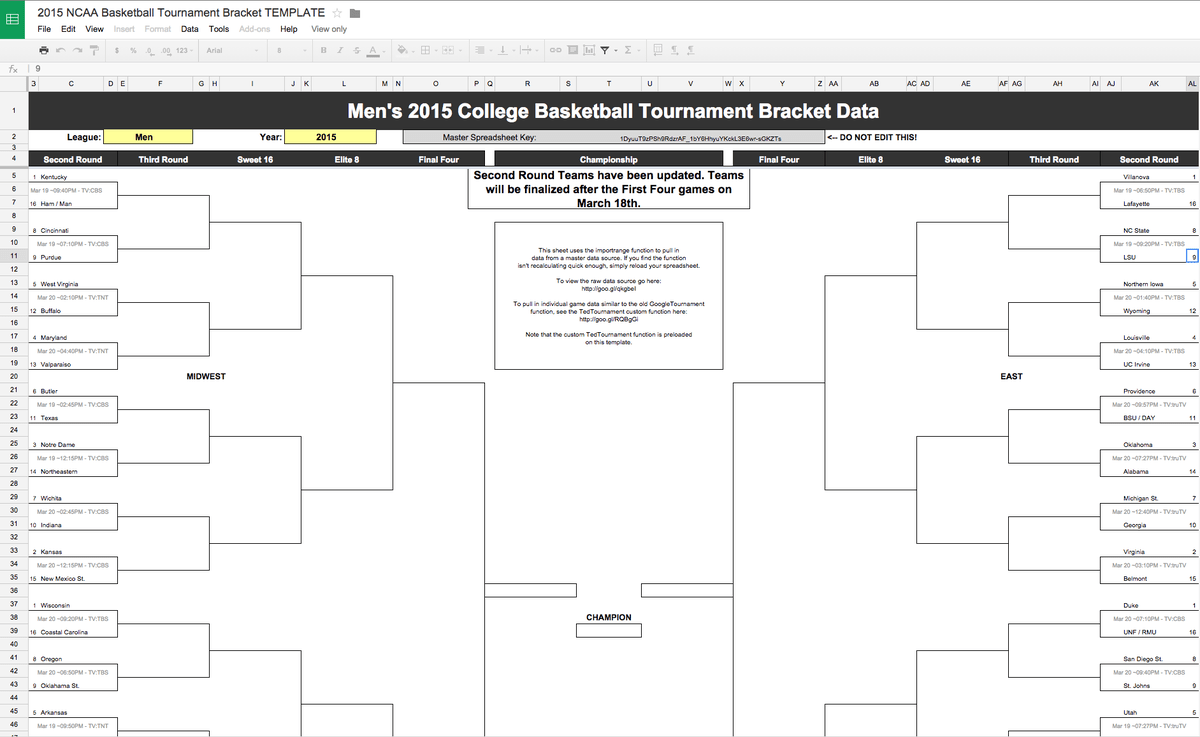 Google Docs On Twitter Create Your Own Ncaa Marchmadness