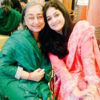 Nadia Jamil with senior friend