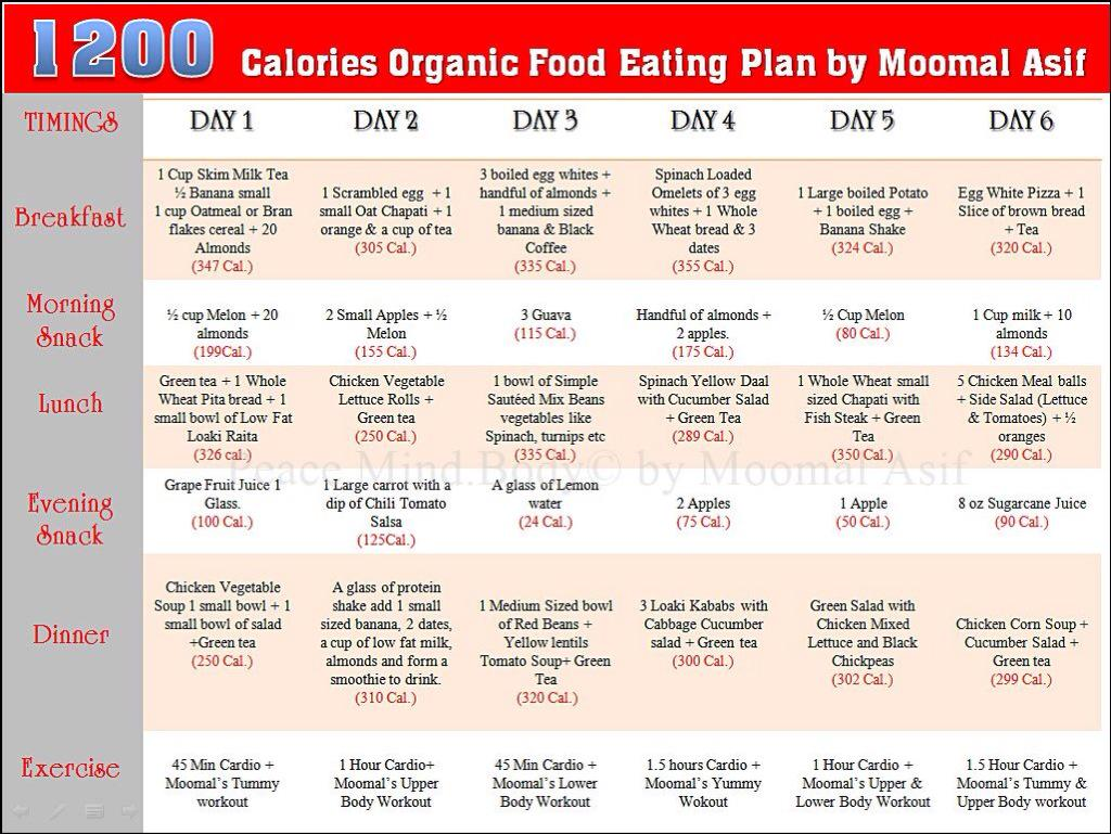 Moomal Asif On Twitter Calorie Organict Plan