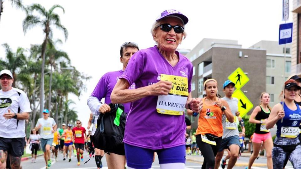 How 92-year-old Harriette Thompson, a cancer survivor becomes oldest woman to ever complete a marathon
