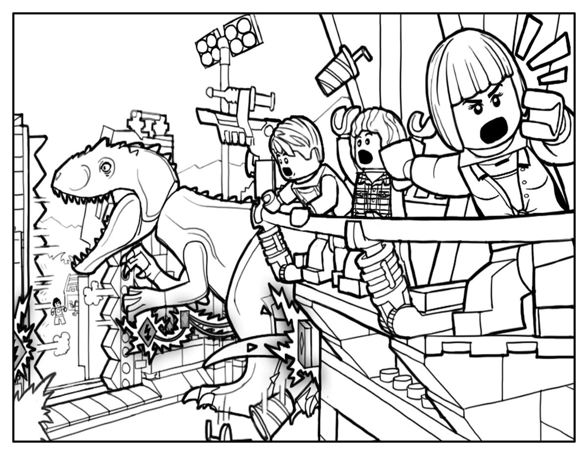 Lego Jurassic World Coloring Pages Lego Jurassic World Coloring