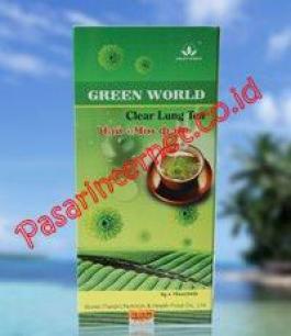 Khasiat Green world clear lung tea