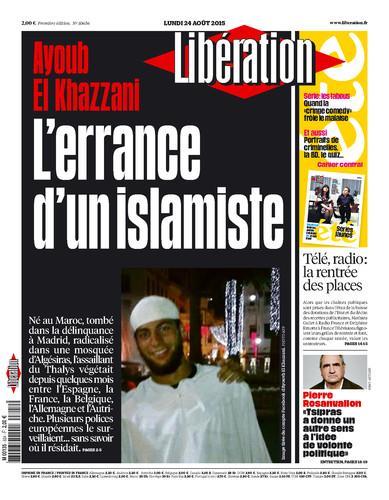 A la une de l'édition de ce lundi : Ayoub El Khazzani, l'errance d'un islamiste http://t.co/3YWV9SDQ1P