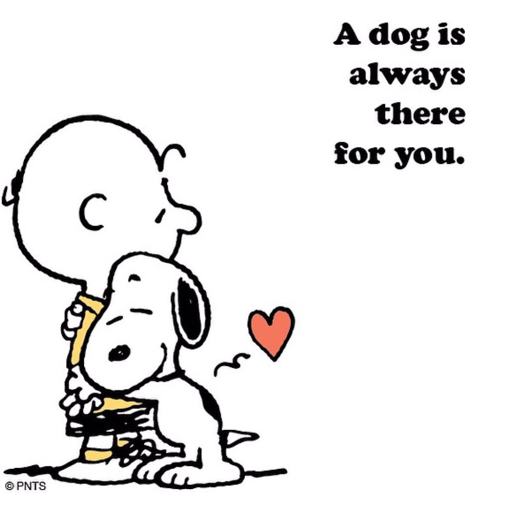 Peanuts On Twitter A Dog Is Always There For You