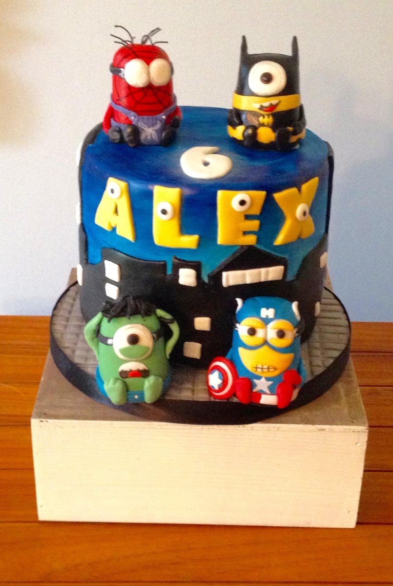 Broken Spoon Cakes Auf Twitter Here It Is Our Miniature Superheroes Cake Happy Birthday To My Cousins Little Boy Alex Have A Super Party Http T Co Zohjseibxq