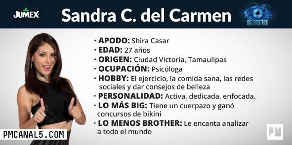 Sandra del Carmen - Participante Big Brother
