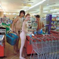 Nudist idea #87: Go and do your shopping naked