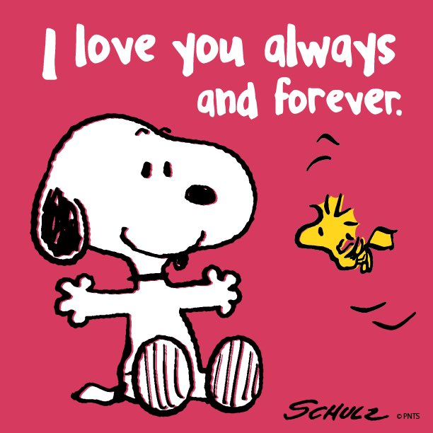PEANUTS On Twitter I Love You Always And Forever