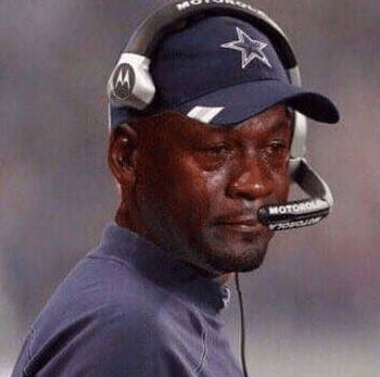 Image result for cowboys jordan crying face meme