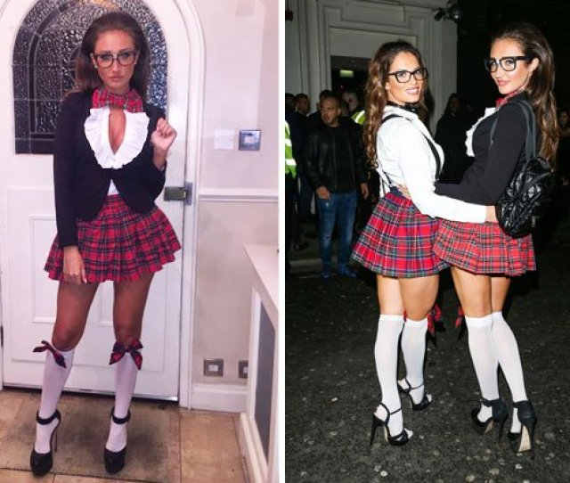 Megan_mckenna_ And Nicolecharbass Looked Hot Last Night Dressed As Sexy Schoolgirls Https