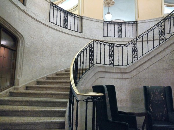 Fairmont Banff Springs Hotel Haunted corpse bride staircase