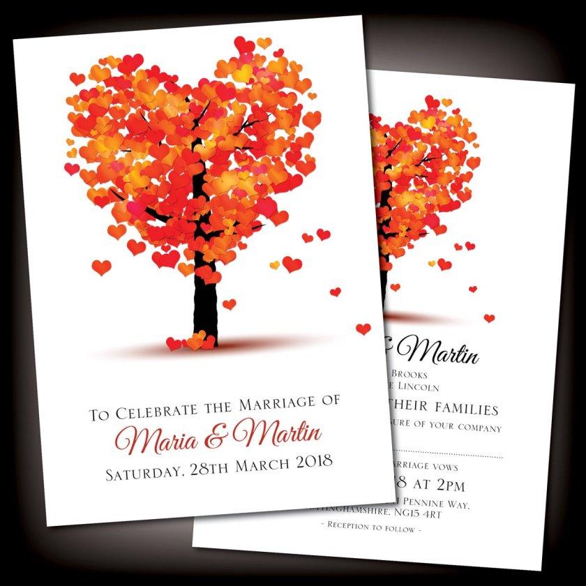Stunning Autumn Theme Wedding Invitations Weddinginvitations Ettingmarried Bigday Co Uk Itm Personalised Day Or Evening