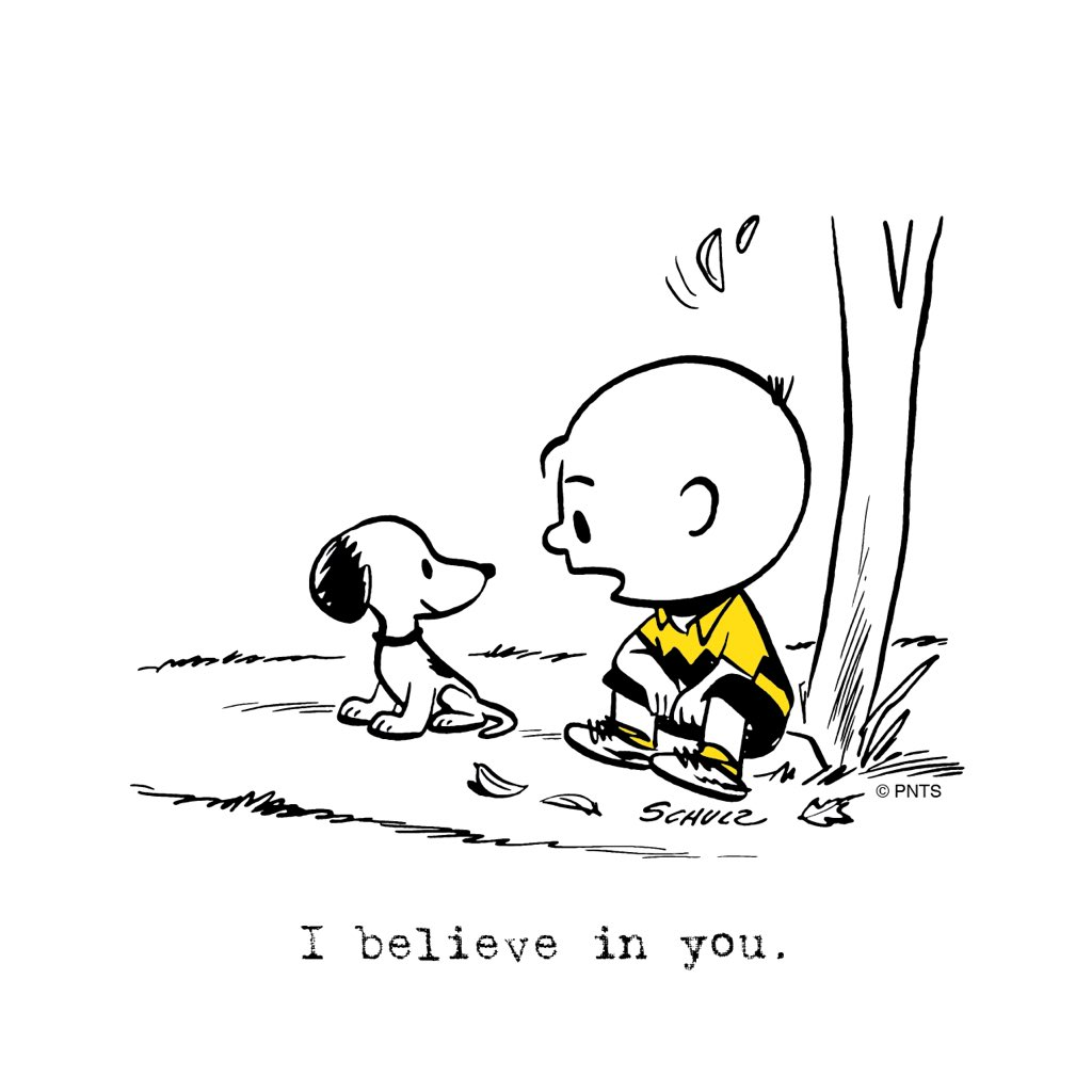 Peanuts On Twitter I Believe In You S T