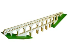papercraft crafts roman aqueduct bridge france