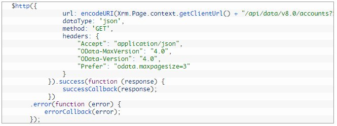 Execute Web API request using Angular JS in Dynamics CRM  #MSDyn365 #webapi