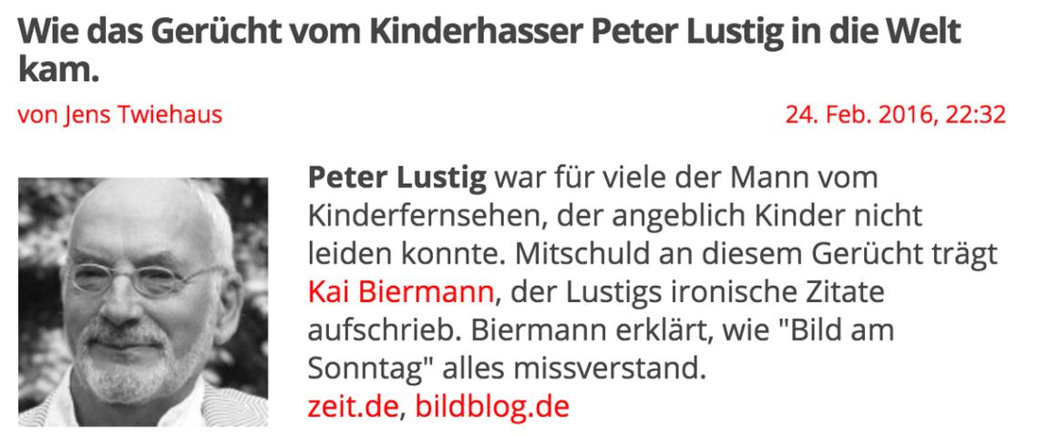 Kinderhasser Peter Lustig Das Wuchs Auf Meinem Mist Entschuldigt Sich Kaibiermann Https