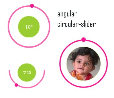 angular-circular-slider | Create a circular slider range of values and images. |  #angularjs
