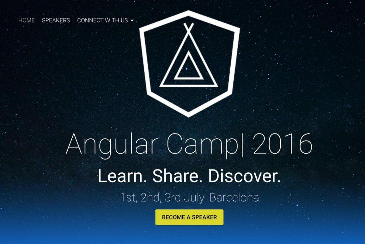 So, it looks like I'm joining this years @AngularCamp :) to talk Angular 2 Components: