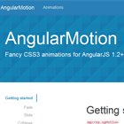 AngularMotion : Fancy CSS3 animations for AngularJS  #angularjs #css