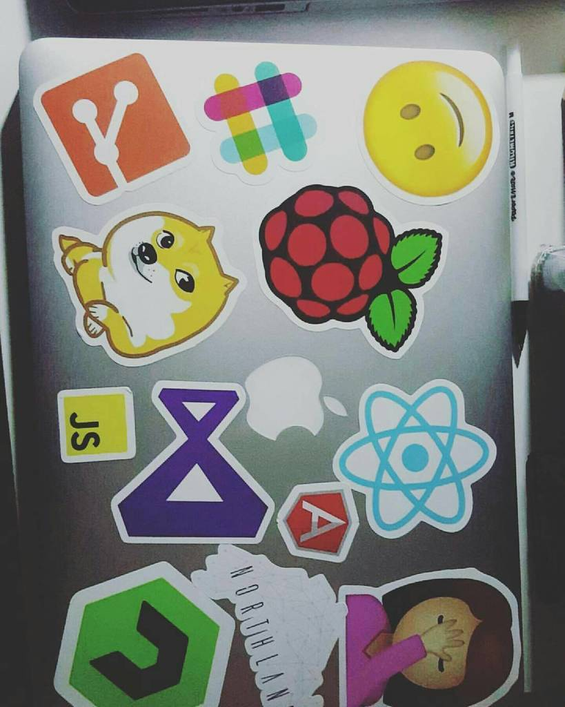 - #repost that's a lot of stickers! Love the JS and AngularJS sti…