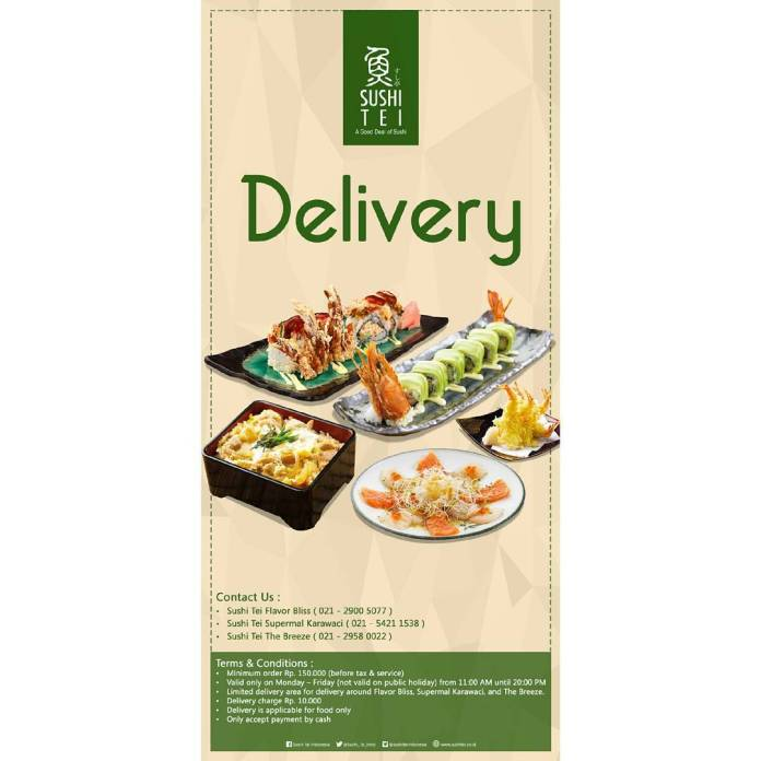 Sushi Tei Indonesia On Twitter Do Delivery Now At Sushi Tei Flavor Bliss Sushi Tei Supermal Karawaci Sushi Tei The Breeze Https T Co Xn5hip6mvr