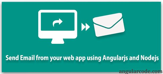 Send email from website using AngularJS and NodeJS -