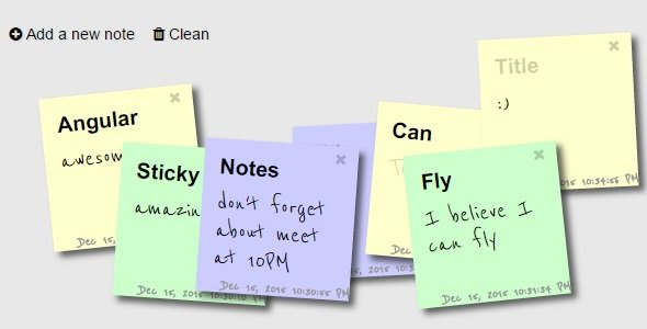 Sticky Notes : AngularJS Real-Time Notes  #angularjs #javascript