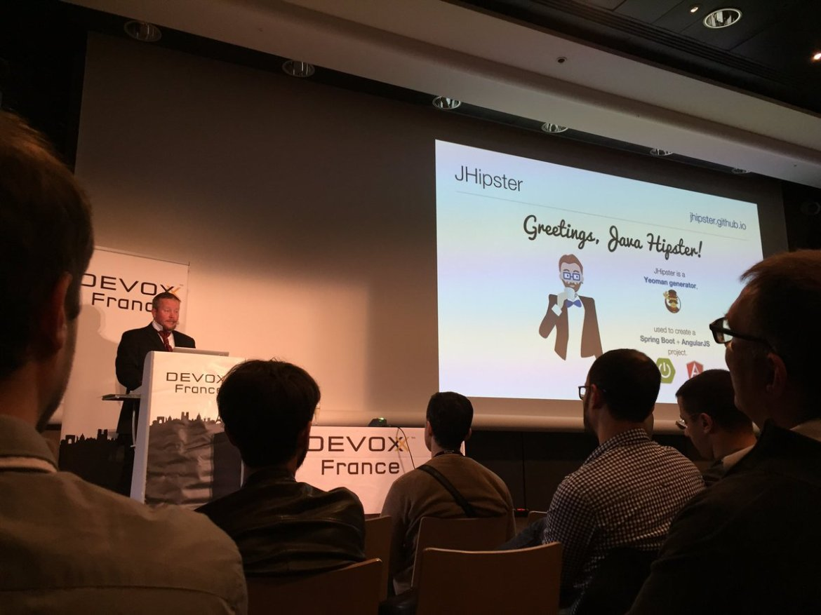 #DevoxxFR Get Hip with JHipster: Spring Boot   AngularJS   Bootstrap by @mraible