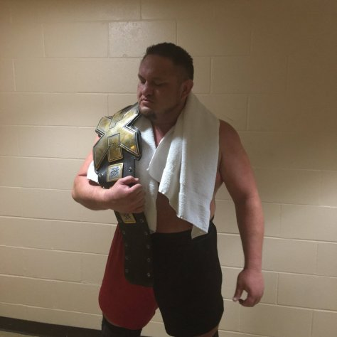 samoa joe is the new NXT champion winning the title at a house show in Lowell