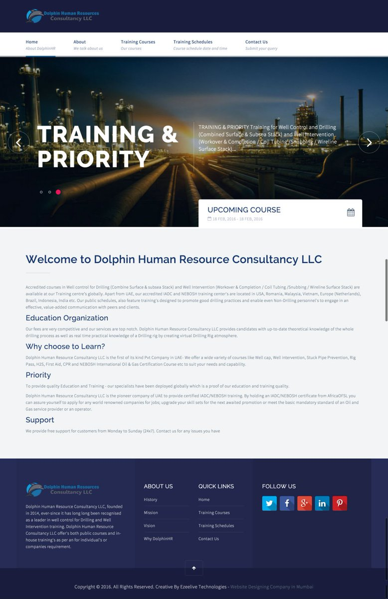 Dolphin Human Resource Consultancy website launch in @angularjs with @cakephp -