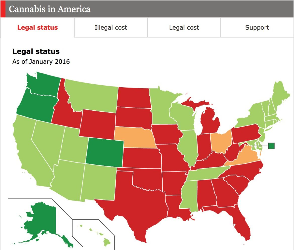 Mapping Marijuana: America's opinions, prices, and laws, state-by-state