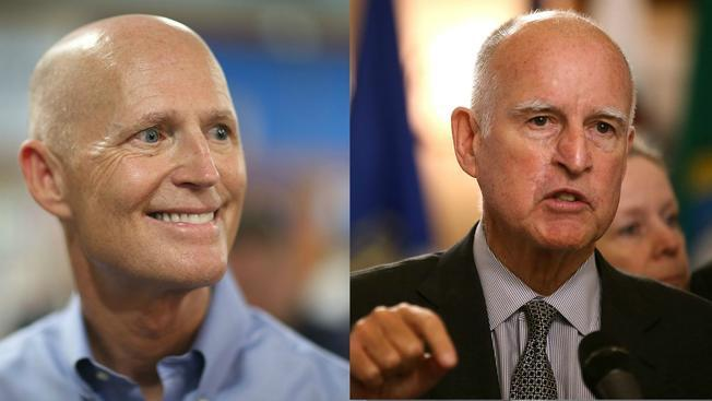 CA Gov. Jerry Brown has asked Rick Scott to stop his,