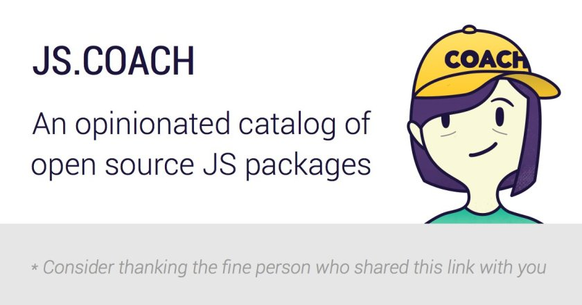 An opinionated catalog of open source JS packages:  #reactjs