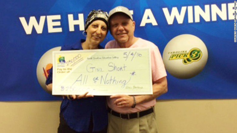 A North Carolina woman who's battling cancer wins the lottery -- again