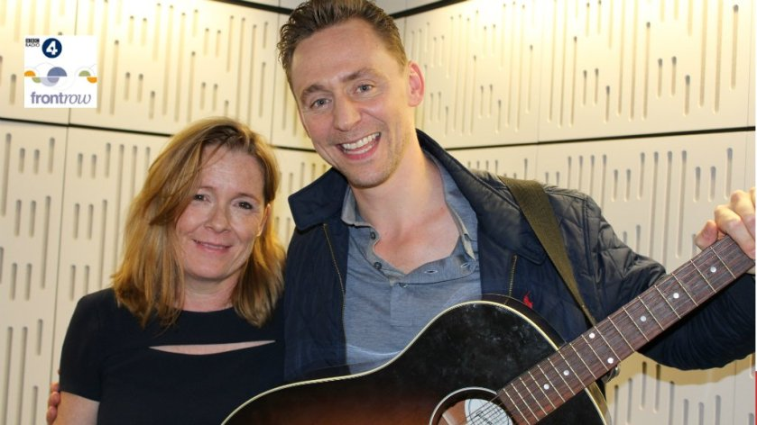 #TomHiddleston just sung a song for us. Not what you'd expect!  More at 7.15 on @BBCRadio4
