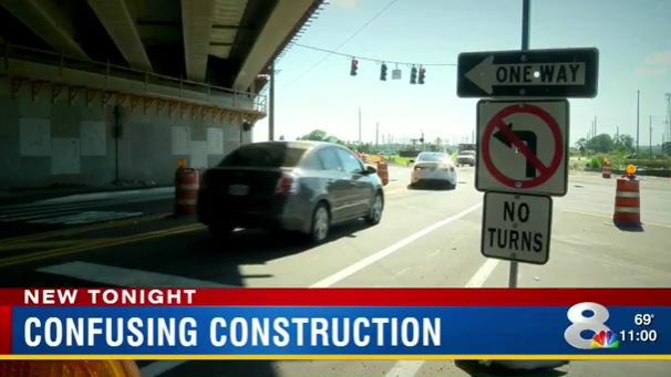 'No left' at construction site snags unaware drivers in St. Pete, FL   @MyFDOT @MyFDOT_Tampa