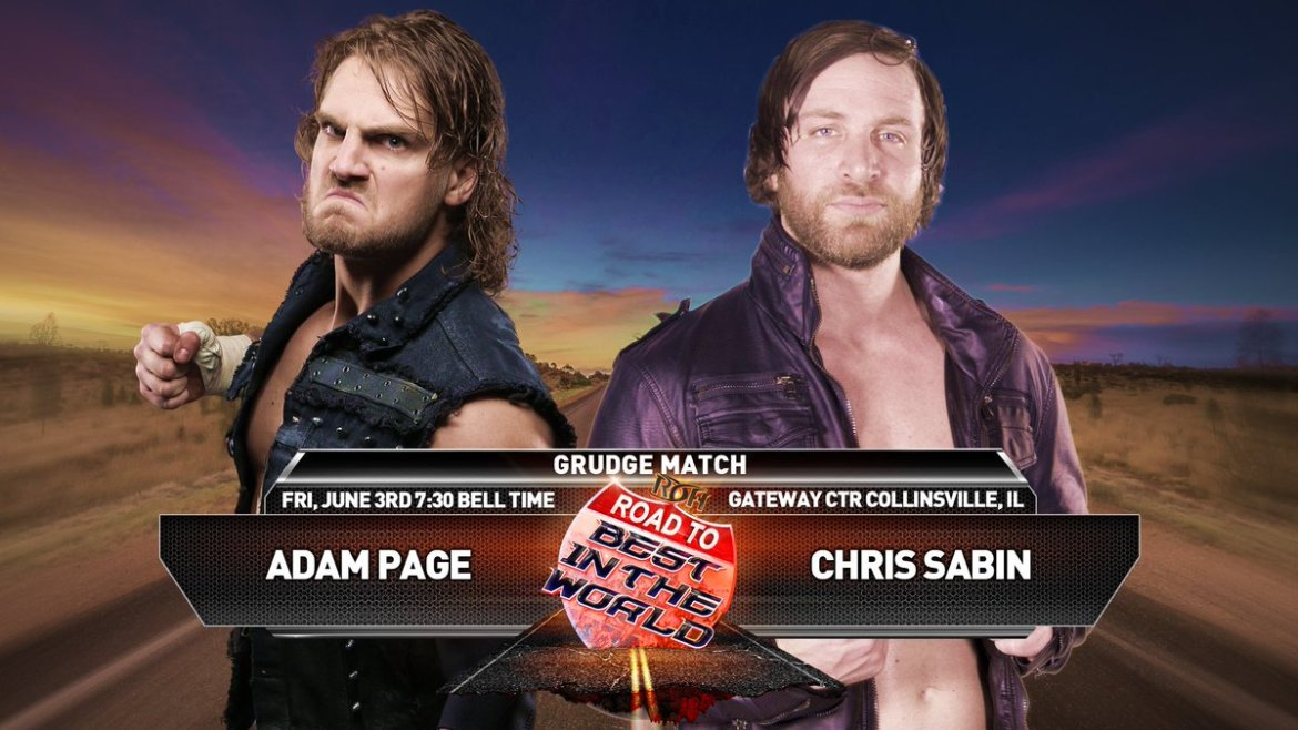 .@SuperChrisSabin  vs @theAdamPage in a Grudge Match 6/3!  #RoadToBITW Get your tix now!