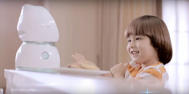 This #GPU trained #AI robot for children can tell jokes, teach english and much more