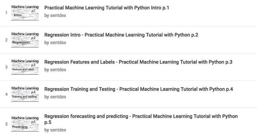 Free video course on YouTube: Practical #MachineLearning with #Python. #DataScience