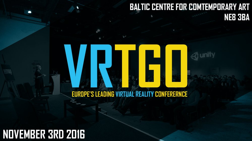 #VRTGO 2016 has early bird tickets at a big discount live right now:  #VirtualReality #VR