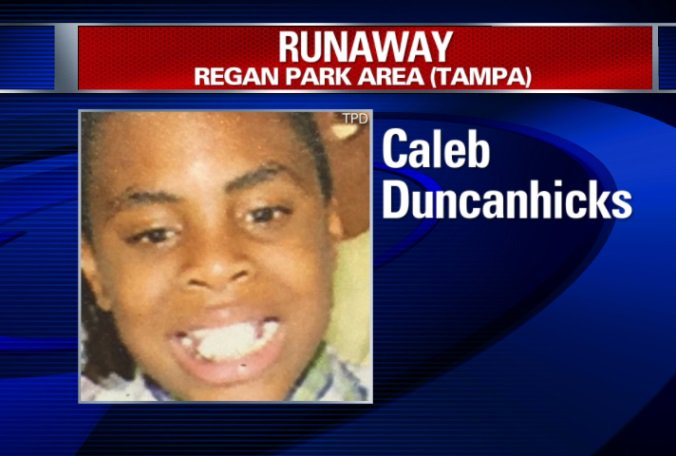 TPD: 9-year-old runaway missing since late Sunday, Caleb Duncanhicks, has been found safe.