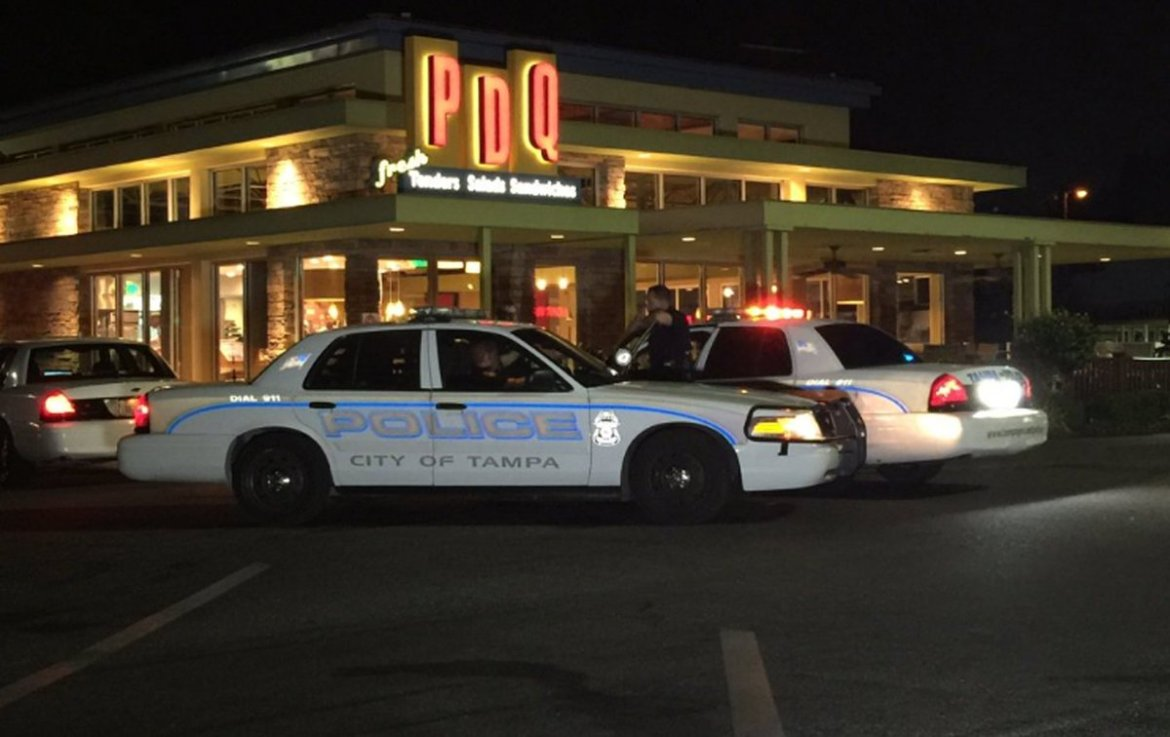 .@TampaPD seeking gunman who robbed @PDQ near Plant High.