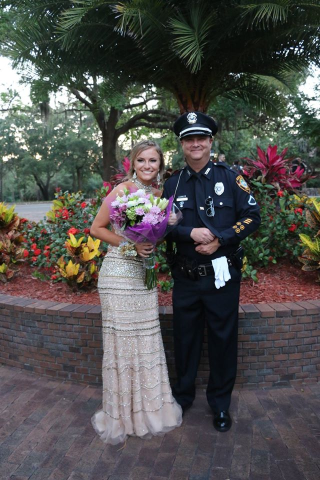 Pinellas, Pasco law enforcement officers escort daughter of fallen officer to prom