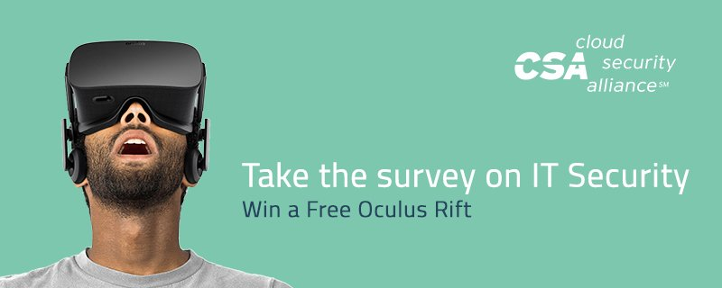 Want to win a free Oculus Rift? Take the new @cloudsa survey today!